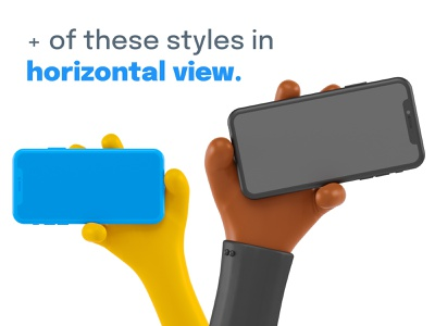40 iPhone 3D Mockups ✌️ advertising landing page appstore product branding appstore presentation screen iphone app app branding iphone x mockup mockups iphone blender 3d ios ui design render illustration 3d