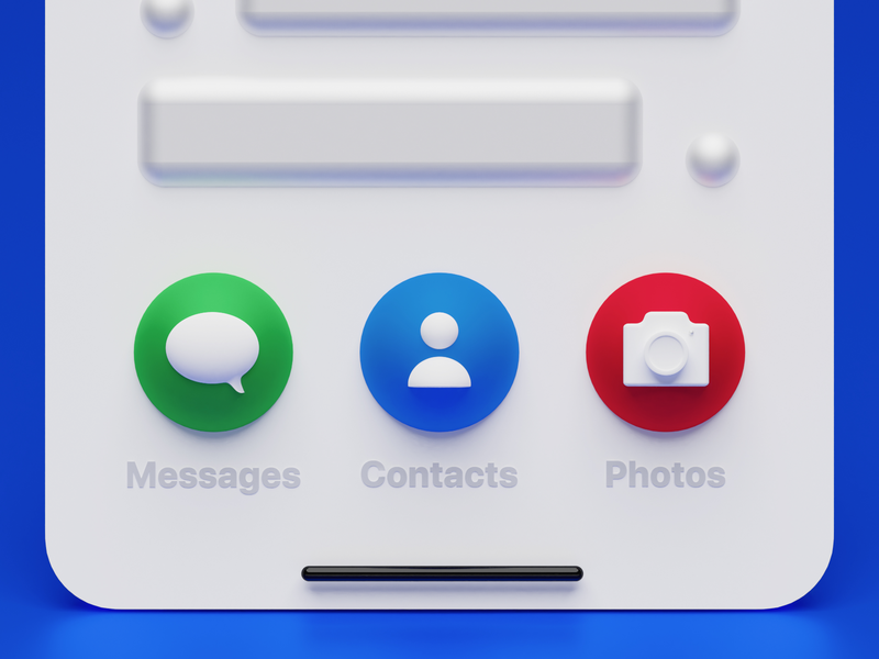 iOS Interface Buttons