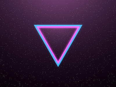 80s Dunk 80s retro neon vice city space stars triangle geometry glow