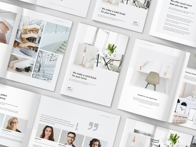 Architectural Studio Portfolio Brochures Bundle 3 in 1 brochure square brochure landscape brochure layout print template creative agency architect indesign template indesign interior design architecture brochure design brochure