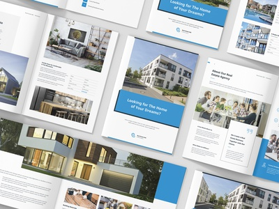 Real Estate / Product Catalog Print Template product design annual report portfolio architectural portfolio company profile rent interior design architecture real estate indesign template print template business brochure