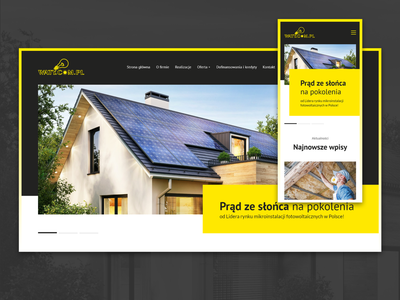 Waty.com.pl – Solar Panels XD Web Design web ui ui design business offer portfolio responsive design solar system solar service website webdesign ui ux ui ux adobe xd power green energy solar energy solar panels