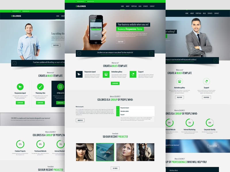 Colores – PSD / HTML / Wordpress Theme – Business and Corporate by ...