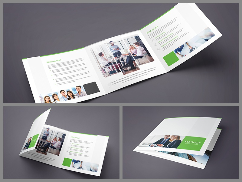 Maskot Business And Corporate Brochure TriFold By Artbart - Tri fold brochure template psd