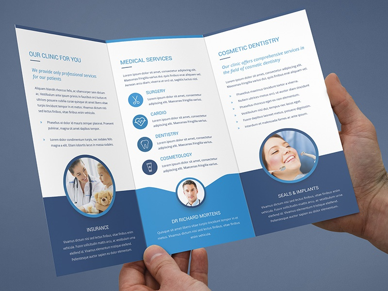 brochure medical tri fold template by artbart dribbble dribbble