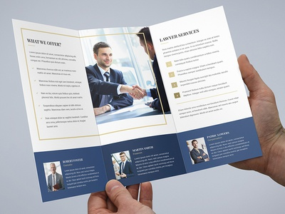 Brochure  Law Firm TriFold Template By Artbart  Dribbble