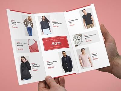 brochure fashion look book tri fold template