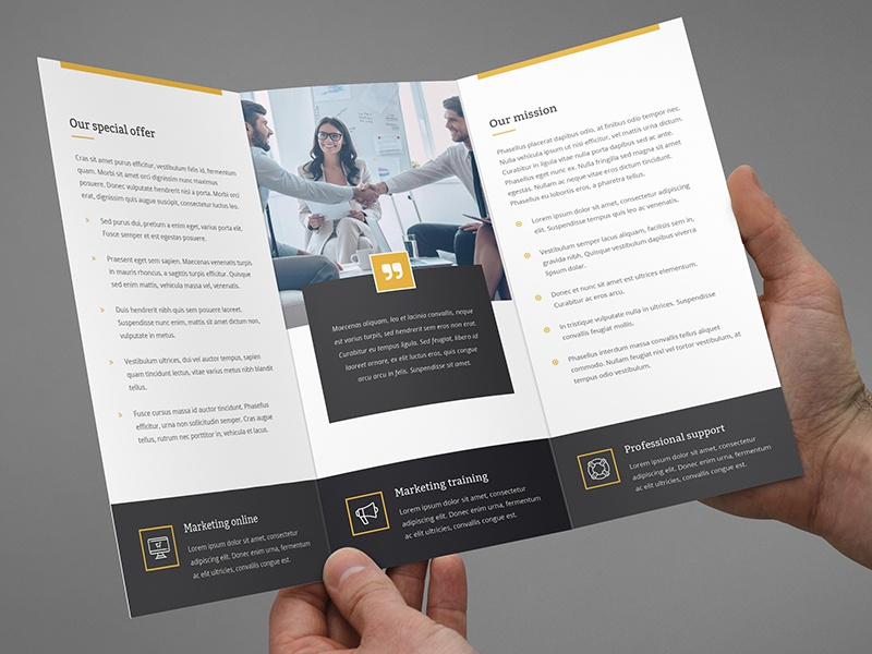 brochure marketing tri fold template by artbart dribbble dribbble