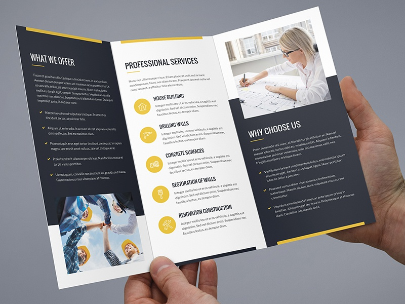 brochure builder tri fold template by artbart dribbble
