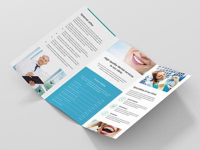 Brochure – Dentist Tri-Fold Print Template