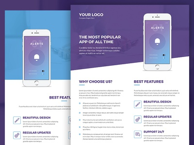 mobile apps brochures and flyers print templates by artbart dribbble