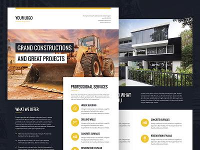 Architect and Builder – Bundle Print Templates buildings multipurpose repair services construction site construction architect architecture builder flyers brochures