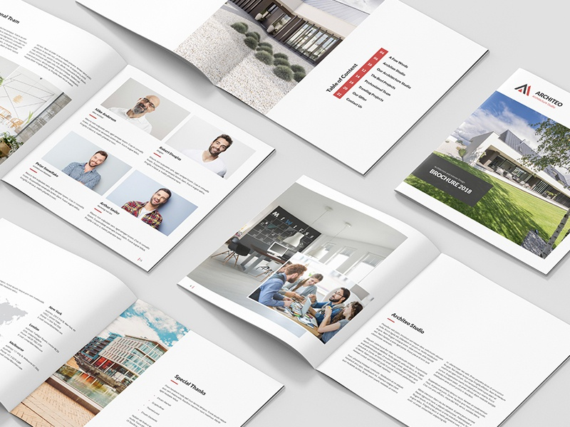 Architeo Architecture and Interior Brochure Square by artbart