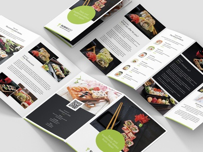 Sushi Restaurant – Brochures Bundle Print Templates 10 in 1