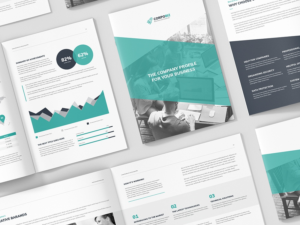 Corpobiz Business And Corporate Company Profile 3 In 1 By Artbart