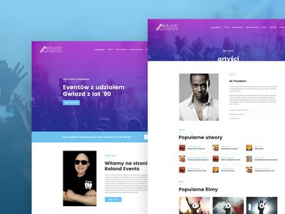 Roland Events Webdesign