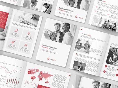 Business Marketing – Company Profile Brochures Print Templates