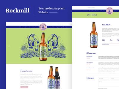 Rockmill Beer Website Webdesign