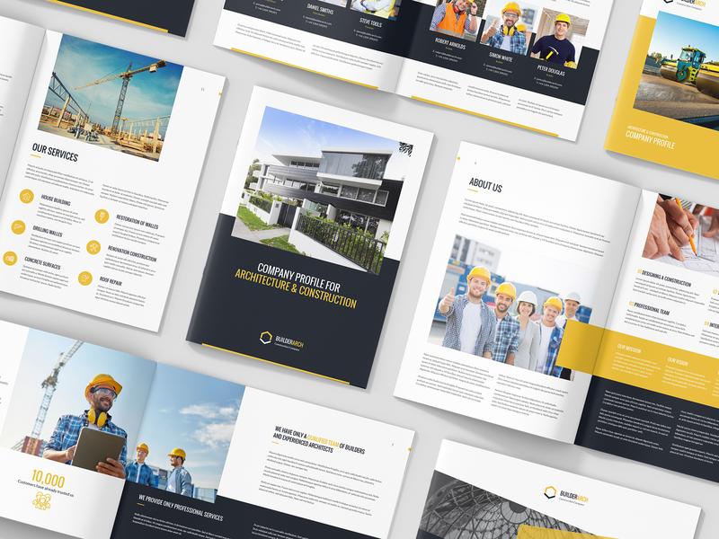 BuilderArch – Construction Company Profile Bundle 3 in 1 by