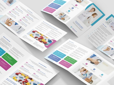 Pharmacy – Brochures Bundle Print Templates 5 in 1
