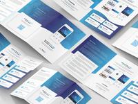 Mobile App – Brochures Bundle Print Templates 5 in 1