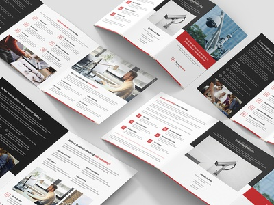 Home Security – Brochures Bundle Print Templates 4 in 1 photoshop template security solutions print template flyer template brochure template brochure design brochures monitoring alarm home security security home