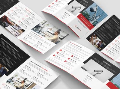 Home Security – Brochures Bundle Print Templates 4 in 1