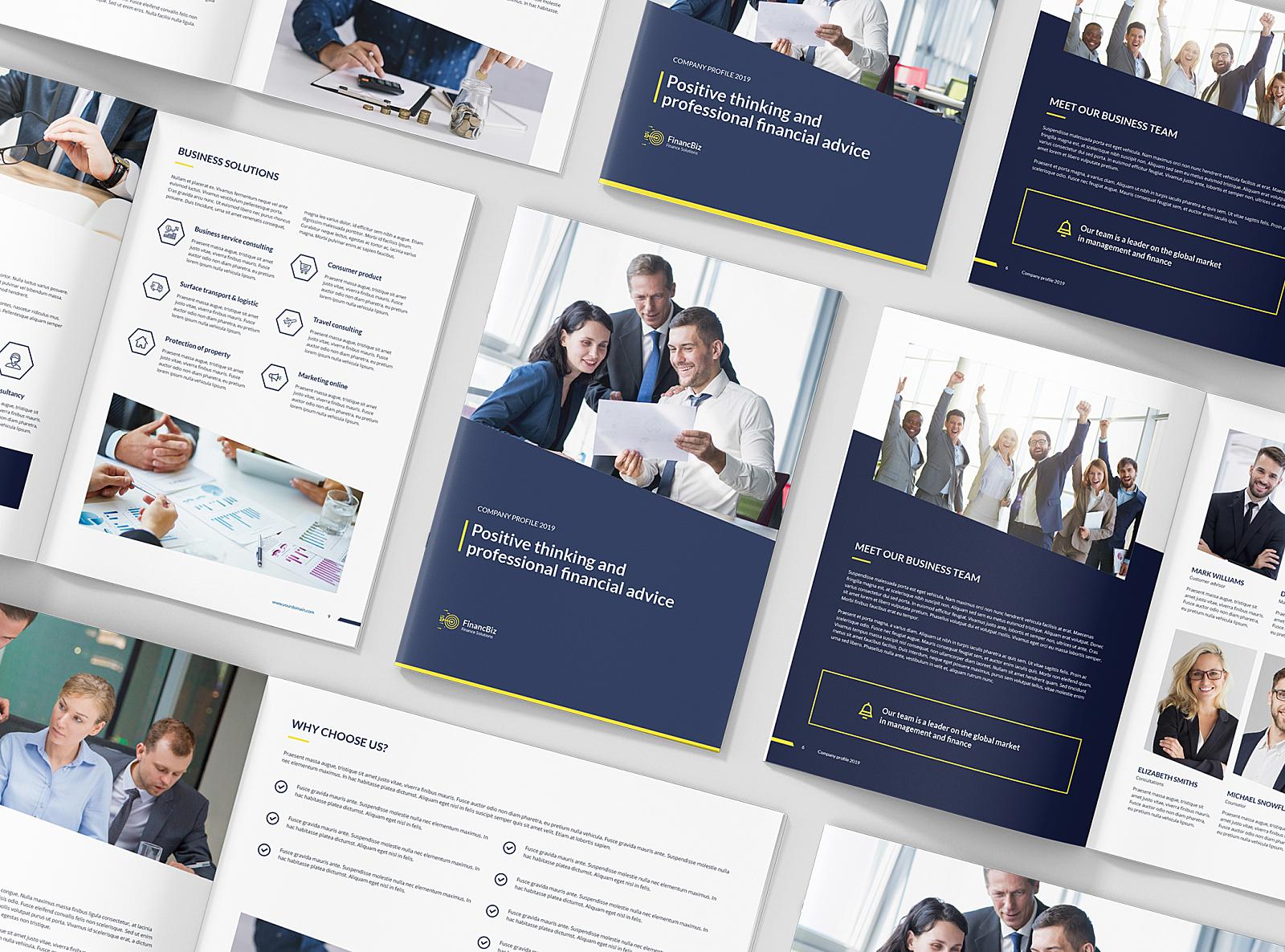 FinancBiz – Company Profile Bundle 3 in 1 by artbart on Dribbble