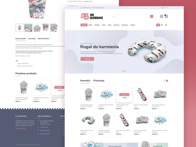 DE-BORENO – Products for Children and Newborns Shop theme products mobile design responsive accessories baby newborn clothing store shop webdesign websites