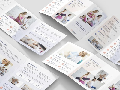 Pregnancy School – Brochures Bundle Print Templates 5 in 1 wellness photoshop template template print templates flyers bundle brochures fitness club fitness school pregnant pregnancy