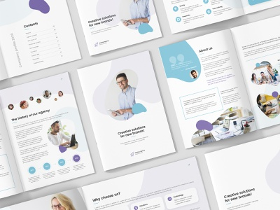StartUp Agency – Company Profile Bundle 3 in 1 modern abstract brochure services presentation proposal portfolio annual report company profile design indesign template liquid indesign megapack bundle brochures