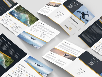 Drone Photographer – Brochures Bundle Print Templates 6 in 1 movie video photo slant creative design print design print template bundle flyers brochures aerial photographer drone