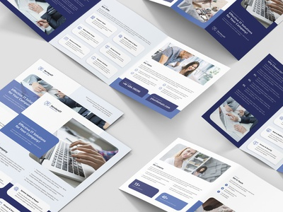 IT Services – Brochures Bundle Print Templates 5 in 1 printing creative agency startup template flyer template flyer technology it services print design print template bundle brochures