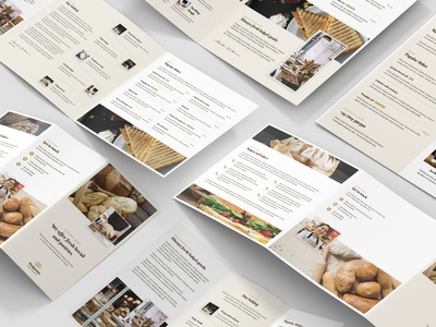 Bakery – Brochures Bundle Print Templates 5 in 1 brochure layout business offer portfolio bread sweet candy cake bakery print templates bundle psd template flyer template flyer brochure design brochure