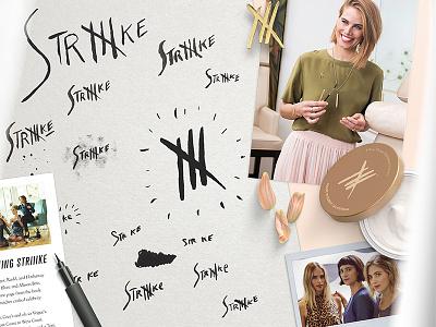 Striiike Branding - Process Vignette striiike branding hand illustration beauty celebrity style fashion