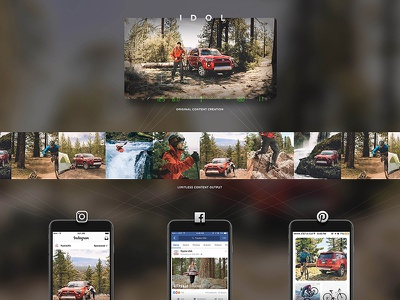 4runner - Targeted Messaging Campaign automotive adventure outdoors social mobile advertising production content
