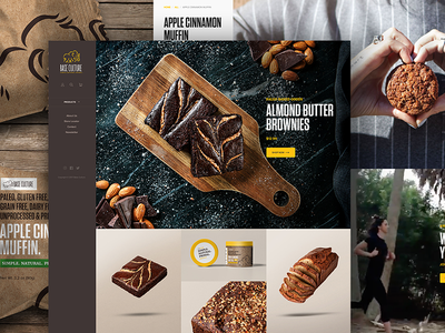 Base Culture Site Design startup female owned baked goods paleo idol base culture interactive