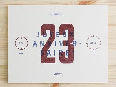 Joyeux Anniversaire! 23 riso printmaking risograph