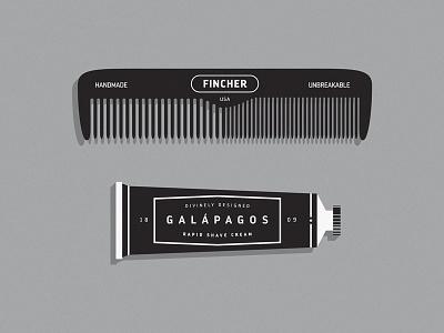 Hair Care tube shaving cream comb los andes fonts.com charles darwin darwin