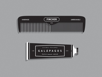 Hair Care tube shaving cream comb los andes fonts.com charles darwin darwin