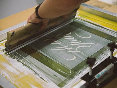 In The Make Lab! astor place new york ibm ibm design ibm make lab screenprinting printmaking