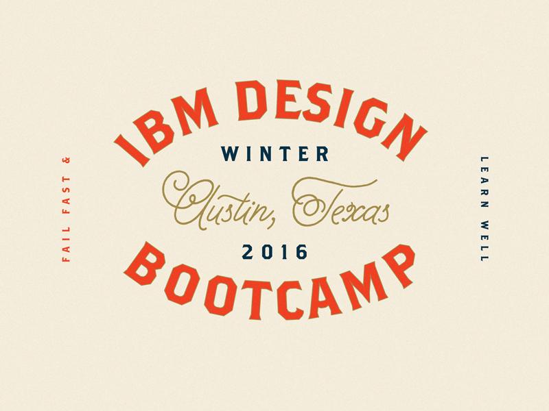 Bootcamp! design thinking bootcamp design bootcamp hive sxsw logo ibm type ibm design