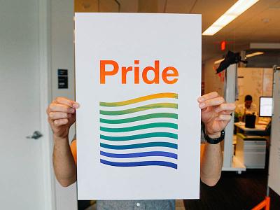 Pride make lab ibm make lab screen printing split fountain lgbt lgbtq rainbow austin pride pride ibm ibm design