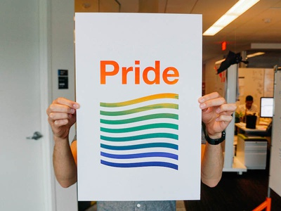 Pride make lab ibm make lab screen printing split fountain lgbt lgbtq rainbow austin pride pride ibm ibm design