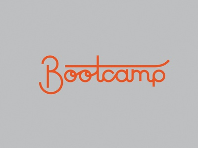 Bootcamp monoweight script monoline design bootcamp ibm ibm design