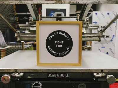 Fight For Gender Equality poster feminism gender equality screen printing