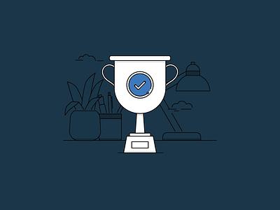IBM Verify Success State desk desktop success trophy ibm verify