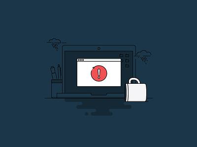 IBM Verify Error State coffee coffee spill error 404 error state monoline illustration ibm verify
