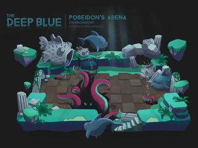 Environment Concept: Deep Blue environment underwater illustration game art concept art