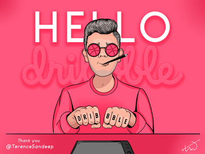 Hello Dribbble by tsn